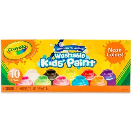 Crayola Washable Neon Paint  10 Pack