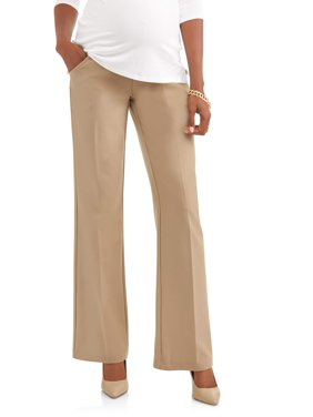 e23740225e075 Product Image Maternity Full-Panel Wide Leg Career Pants -- Available in  Plus Sizes