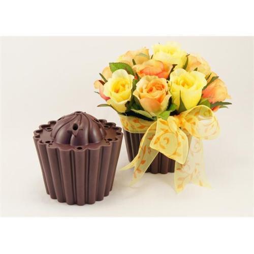 Joster International 10106 Chocolate Cupcake Vase -Pack Of 2