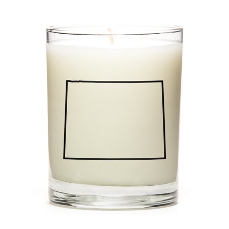 Custom Candles with the Map Outline Wyoming, Lemon - Custom Candles