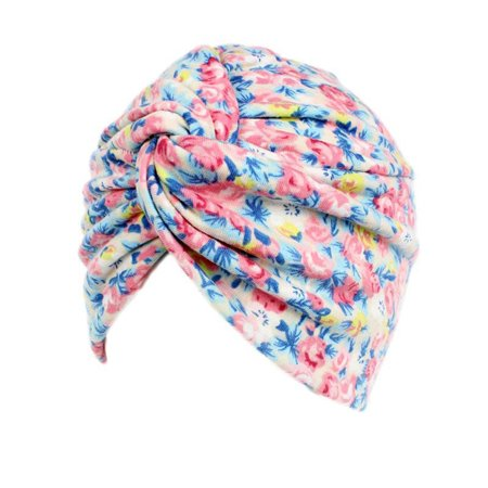 Turban Beanie Hat Fashion Floral Pattern Soft Chemo Hats Beanie Caps for Women - Chef Hats For Sale
