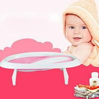 KARMAS PRODUCT Infant EasyStore Comfort Tub Soft Foldable Newborn Bathtub/Lovly Pink for Girl
