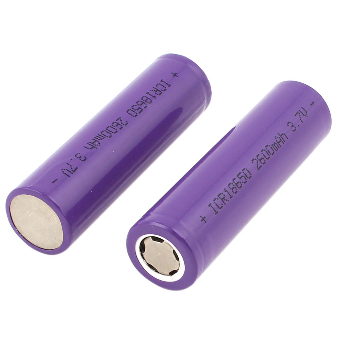 Flashlight 3.7V 2600mAh 18650 Rechargeable Li-ion Lithium Battery 2 Pcs