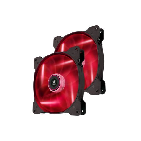Corsair Air Series AF120 LED Quiet Edition High Airflow Fan Twin Pack, Red
