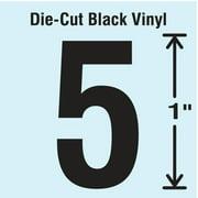 STRANCO INC DBV-1-5-10 Die Cut Number Label, 5, 10 Cards,PK10
