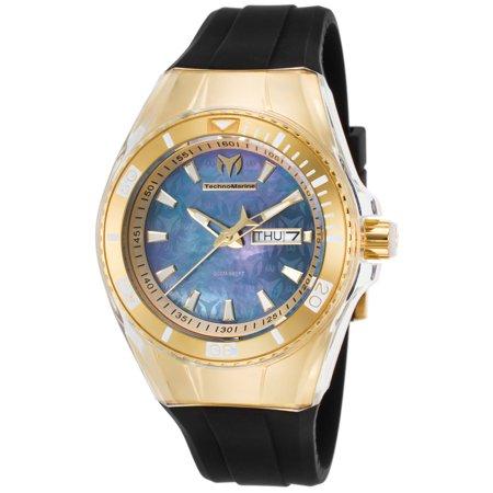TechnoMarine Women's Tm-115325 Cruise Monogram Black Silicone Black Mop Dial Watch