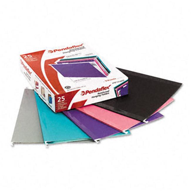 Esselte Pendaflex 415215ASST2 Reinforced Hanging Folders  Kraft  Letter  Pastel Colors  25/Box