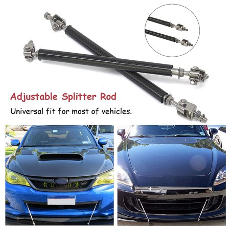 2X 15CM Universal Adjustable Front Rear Bumper Protector Splitter Rod Support