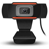 HD Webcam  Streaming Web Camera with Dual Microphones, Webcam for Gaming Conferencing & Working, Laptop or Desktop Webcam, USB Computer Camera for Mac Xbox YouTube Skype OBS, Free-Driver Installa