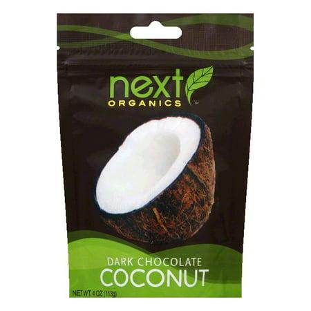 Next Organics Coconut drk chocolate org, 4 OZ (Pack of