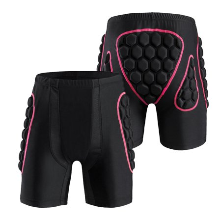 Women's Hip Butt Protection Padded Shorts Armor Hip Protection Shorts Pad for Snowboarding Skating Skiing Riding Low Rise Snowboard Pants