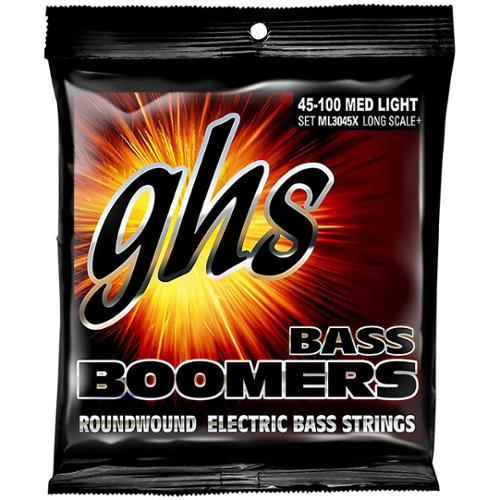 GHS Boomers Long Scale Plus Medium Light Bass Guitar Strings by GHS