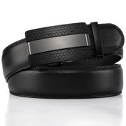 Xhtang Men's Leather Ratchet Belts For Men Fashion Automatic Buckle Belt