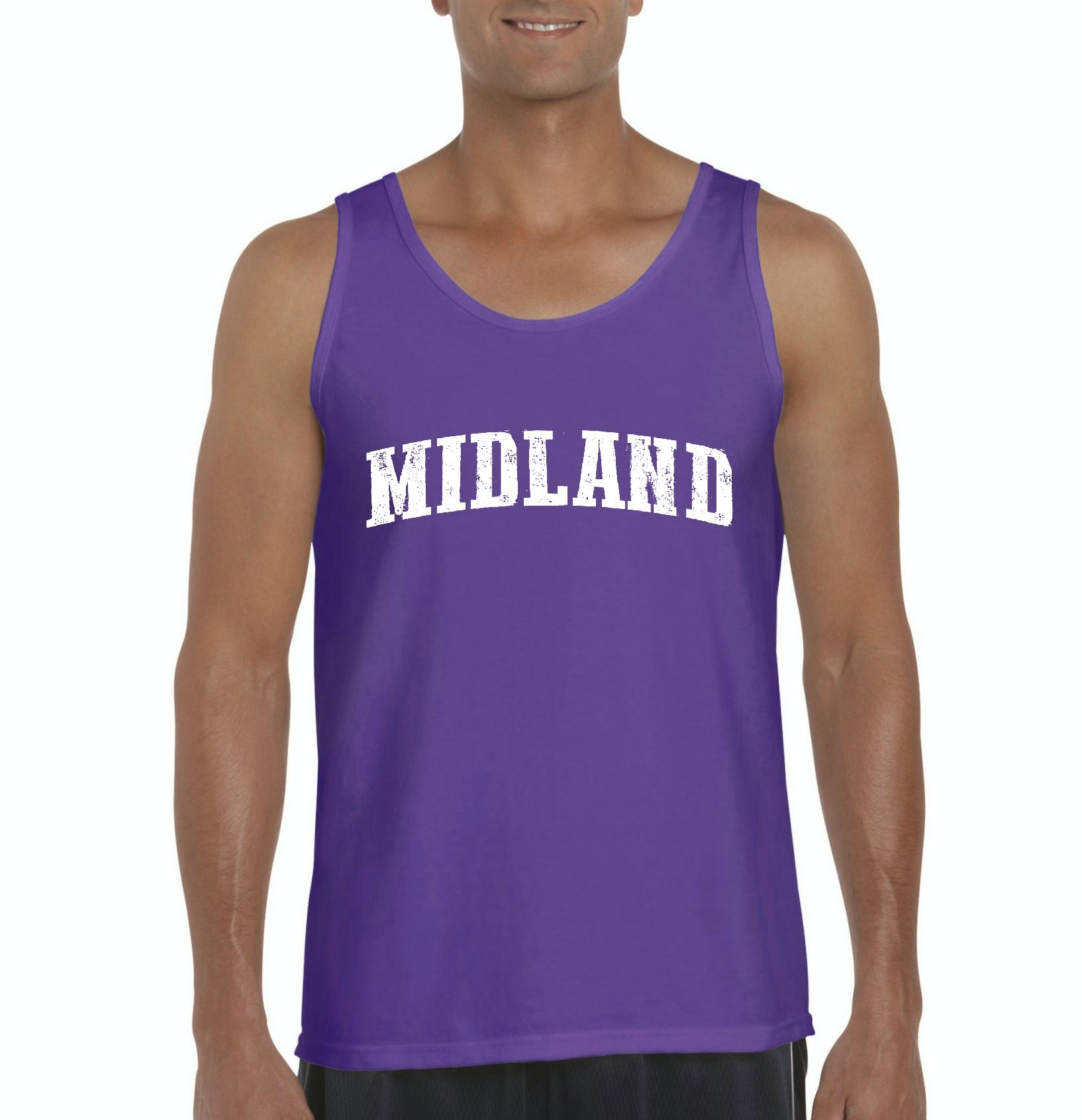 Midland TX Texas Flag Houston Map Longhorns Bobcats Home Texas State University Mens Tanks