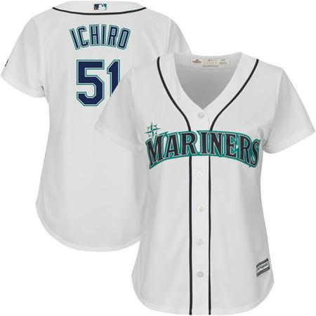 Ichiro Suzuki Frame (Ichiro Suzuki Seattle Mariners Majestic Women's Team Cool Base Player Jersey - White )