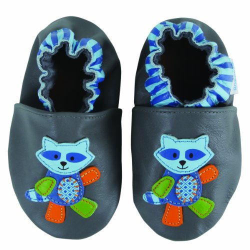 Robeez Mix & Match Raccoon GrayB 6-12 S Baby by