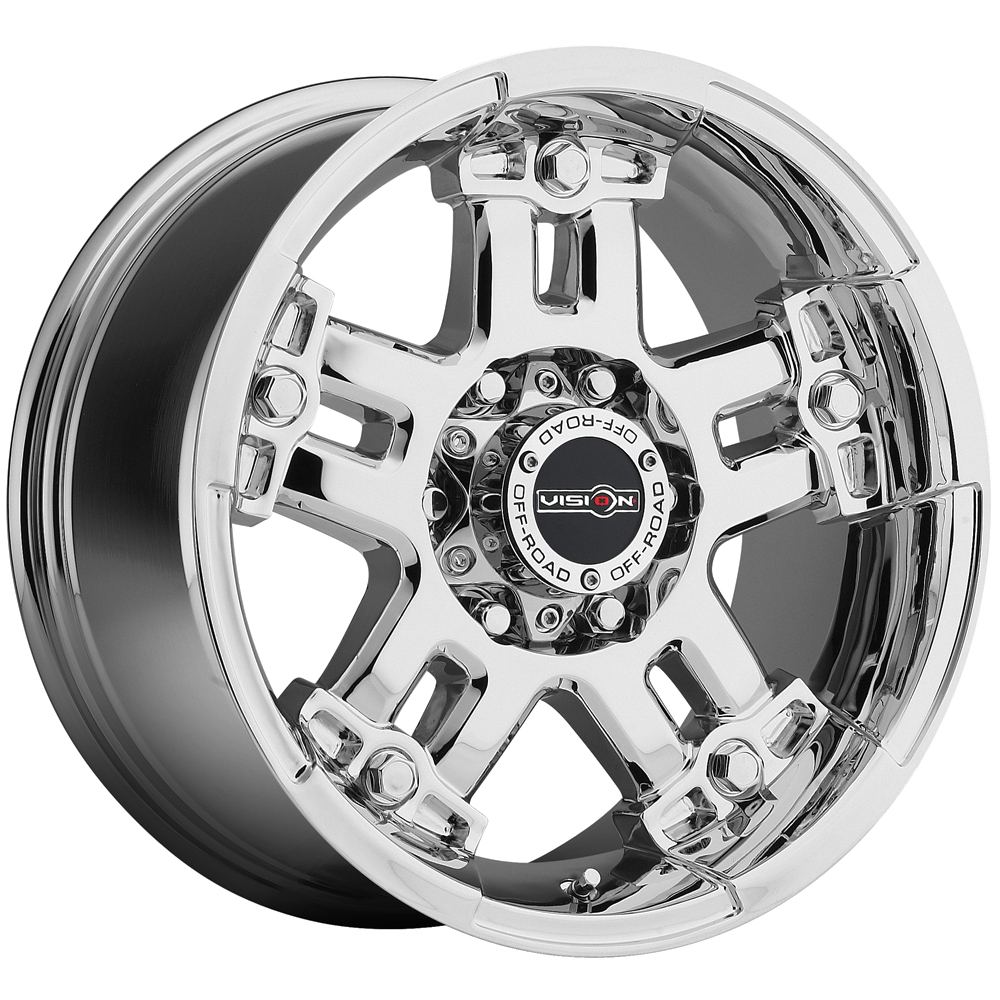 "18"" Inch Vision 394 Warlord 18x9 5x127 (5x5"") +12mm PVD Chrome Wheel Rim"