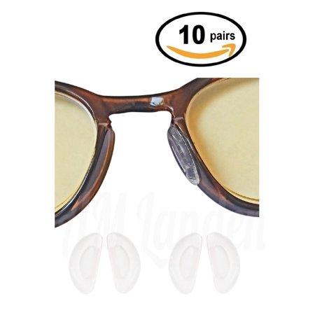 AM Landen 10 Pairs 1mm Clear Ergonomic Design Anti Skid D-Shape Stick-on Eyeglass Nose (Eyeglasses Fit Face Shape)