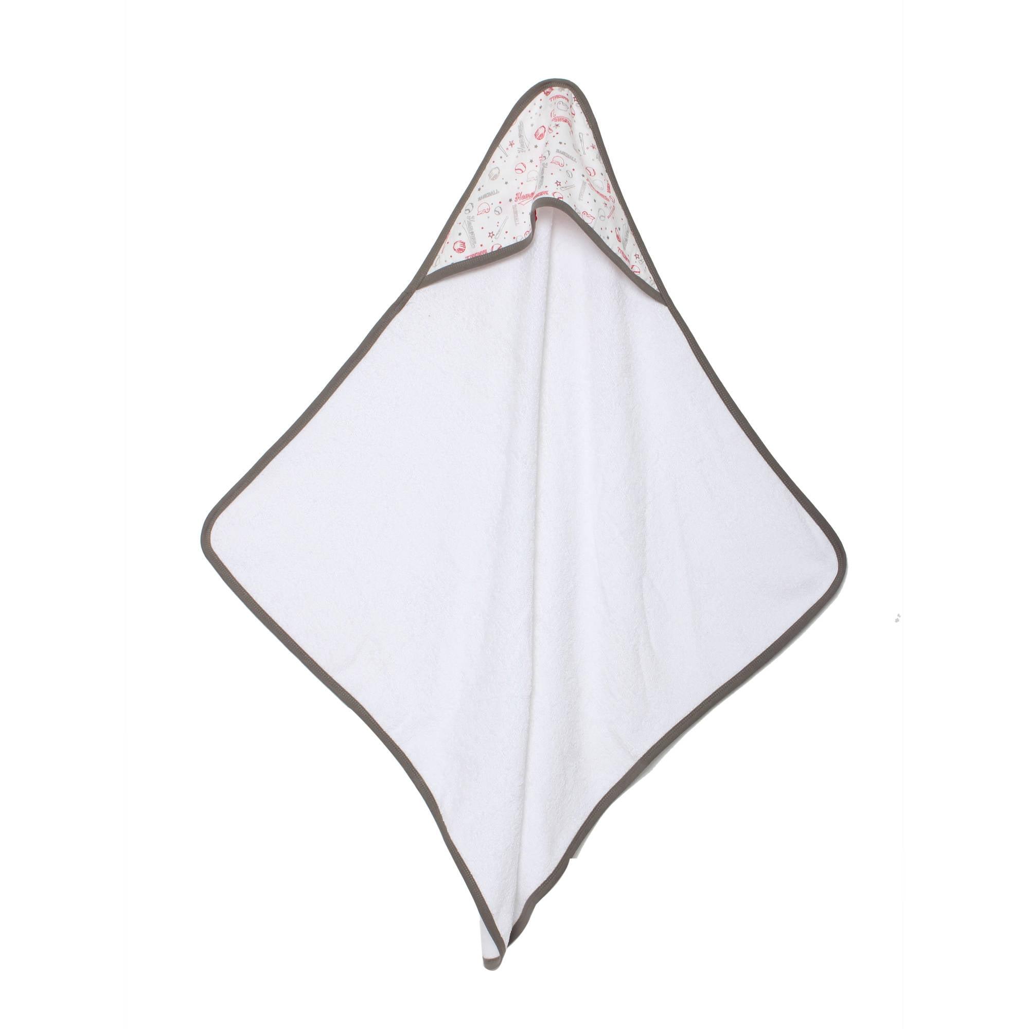 Bacati Newborn Baby Boy Muslin Hooded Towel