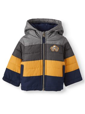 Child of Mine by Carter's Baby & Toddler Boys' Colorblocked Puffer Coat with Hood