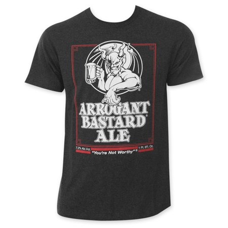 Arrogant Bastard Men's Charcoal Beer Logo T-Shirt ()