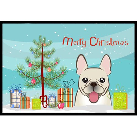 Carolines Treasures BB1610MAT Christmas Tree & French Bulldog Indoor or Outdoor Mat, 18 x 27 - image 1 of 1