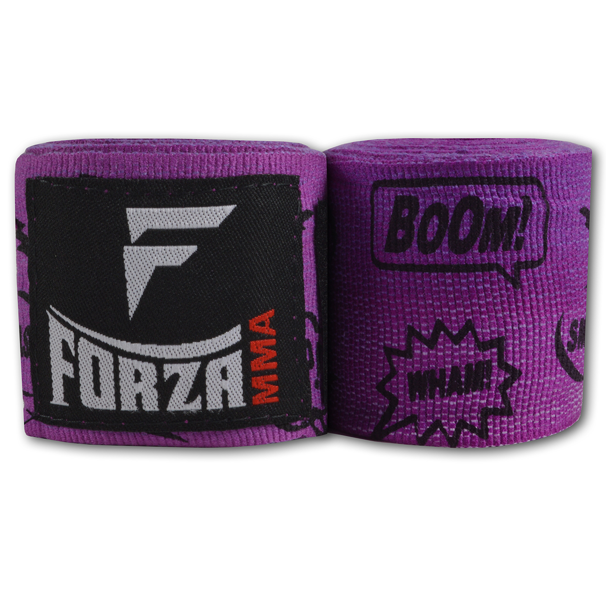 """Forza Sports 180"""" Mexican Style Boxing and MMA Handwraps - Comic Book Purple"""