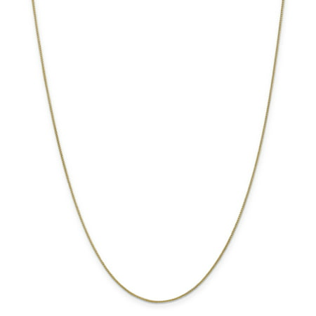 14K Yellow Gold 0.80mm Spiga Pendant Chain 20 Inch - image 5 de 5