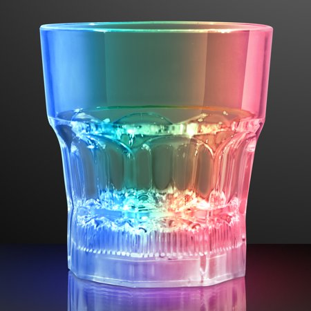FlashingBlinkyLights Light Up Whiskey Rocks Lowball Glass