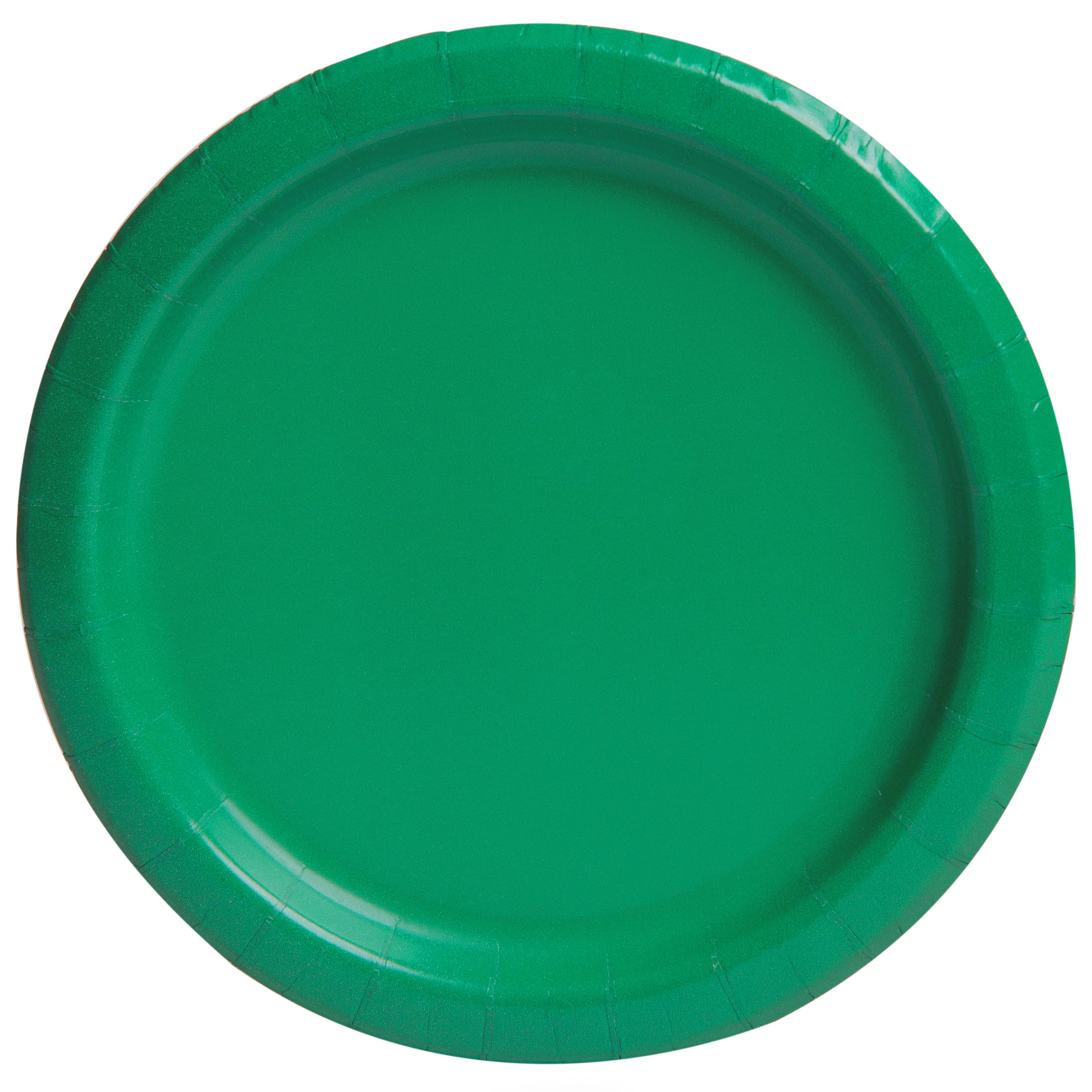 Paper Plates, 9 in, Green, 20ct