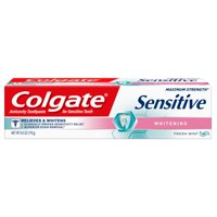 Colgate Sensitive Toothpaste, Whitening - Fresh Mint Gel Formula (6 ounce, Pack of 1)