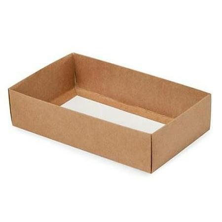 1 Row Base - 1 Unit Kraft Macaron Cookie Box Base Double Row 5 x 8-1/4 x 2