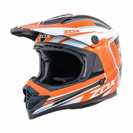 ZOX RUSH LUCID - Junior Youth Street Motocross Dirt Off-Road Motorcycle Helmet - Orange - image 3 de 3