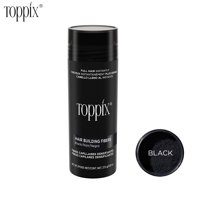Toppix Hair Building Fibers for Thinning Hair,100% Natural Formula, Completely Conceals Hair Loss, Big Bottle 27.5g/9 color option (Black)