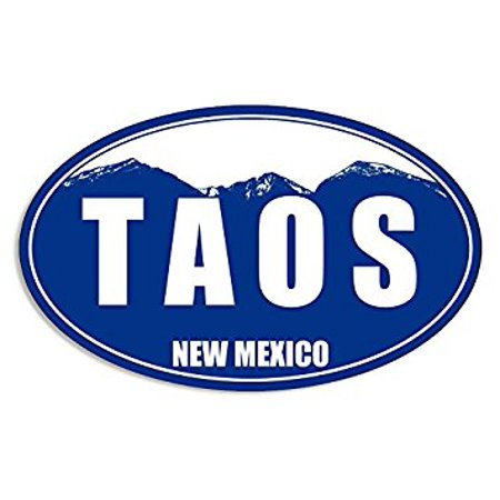 Blue Mountain Oval TAOS Sticker Decal (snow ski skiing resort) Size: 3 x 5