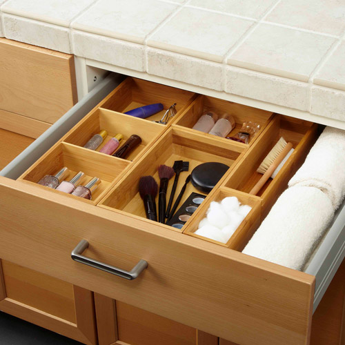 Seville Classics Bamboo Drawer Organizer Boxes, Assorted Sizes