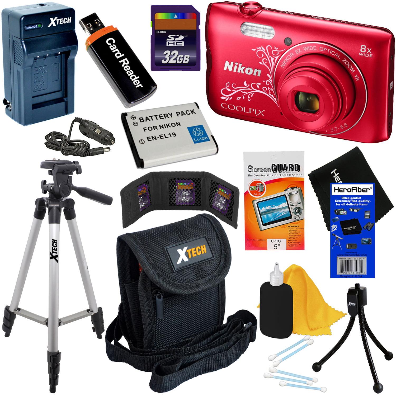 Nikon COOLPIX A300 20.1MP Digital Camera with 8x Zoom & B...
