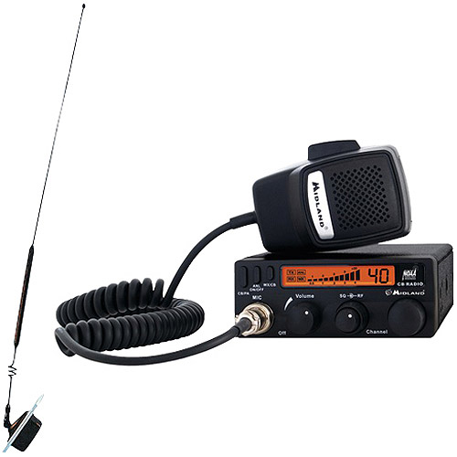 Midland CB Radio with Weather Scan and Window Mount Antenna