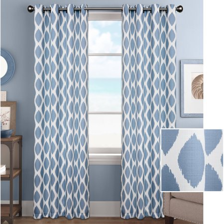 - Better Homes and Gardens Ikat Diamonds Curtain Panel