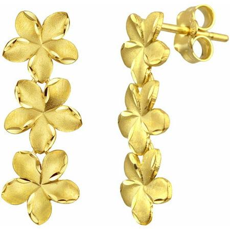 Us Gold 10kt Plumeria Earrings