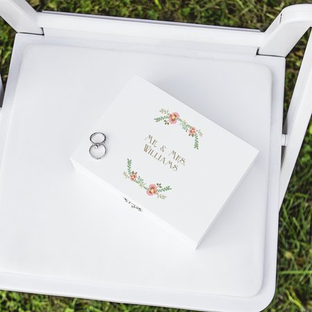 Personalized Floral Wedding Ring Bearer Box](Ring Bearer Options)