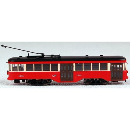 N Spectrum Peter Witt Streetcar w/DCC, St. Louis Multi-Colored