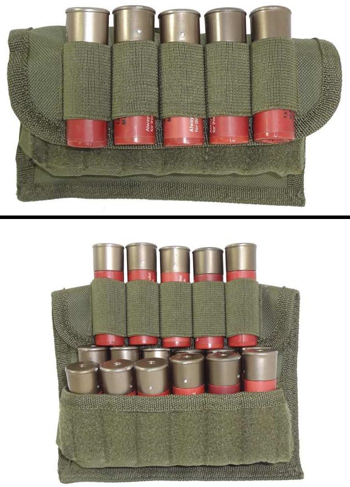 Ultimate Arms Gear Tactical OD Olive Drab Green 17 Shot Shell Ammunition Ammo Reload Carrier Pouch MOLLE, PALS & Belt... by