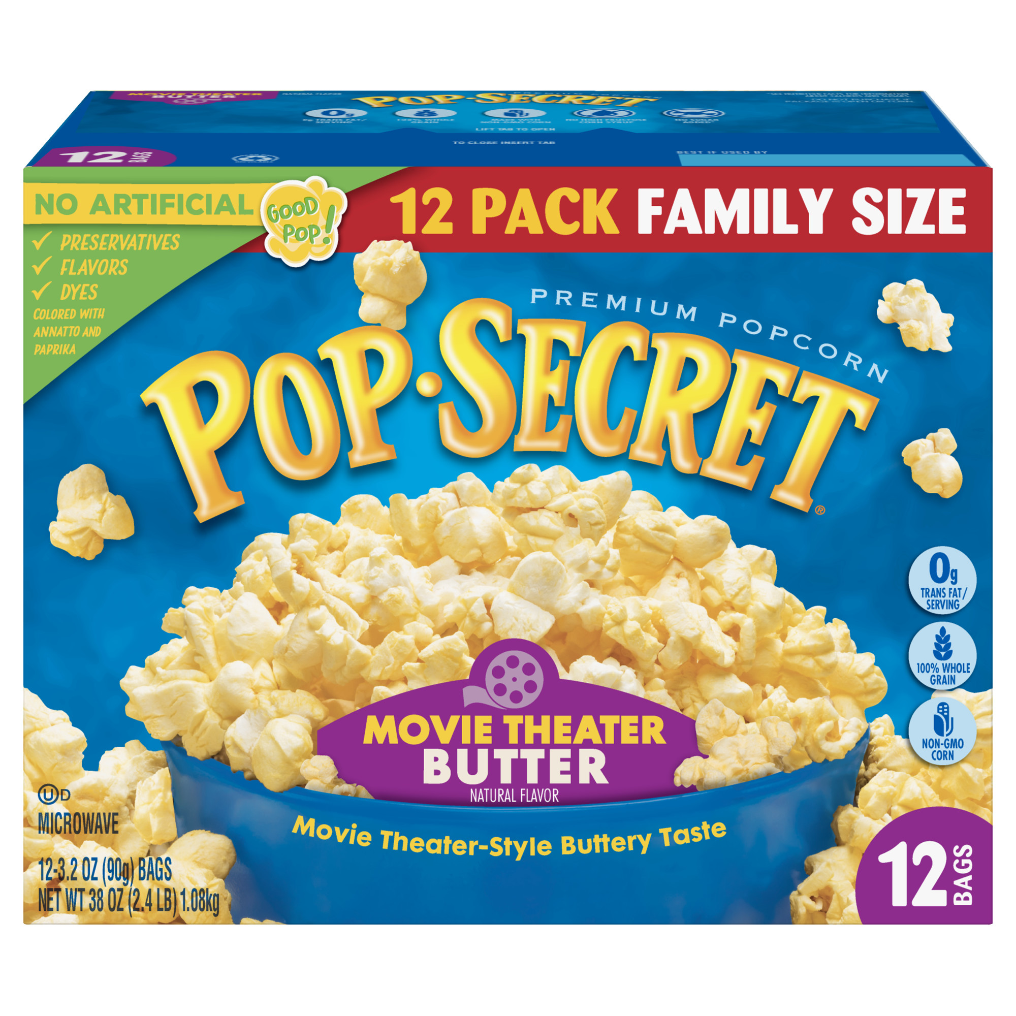 Pop Secret Microwave Popcorn Movie Theater Butter 3 2 Oz 12 Ct Walmart Com Walmart Com