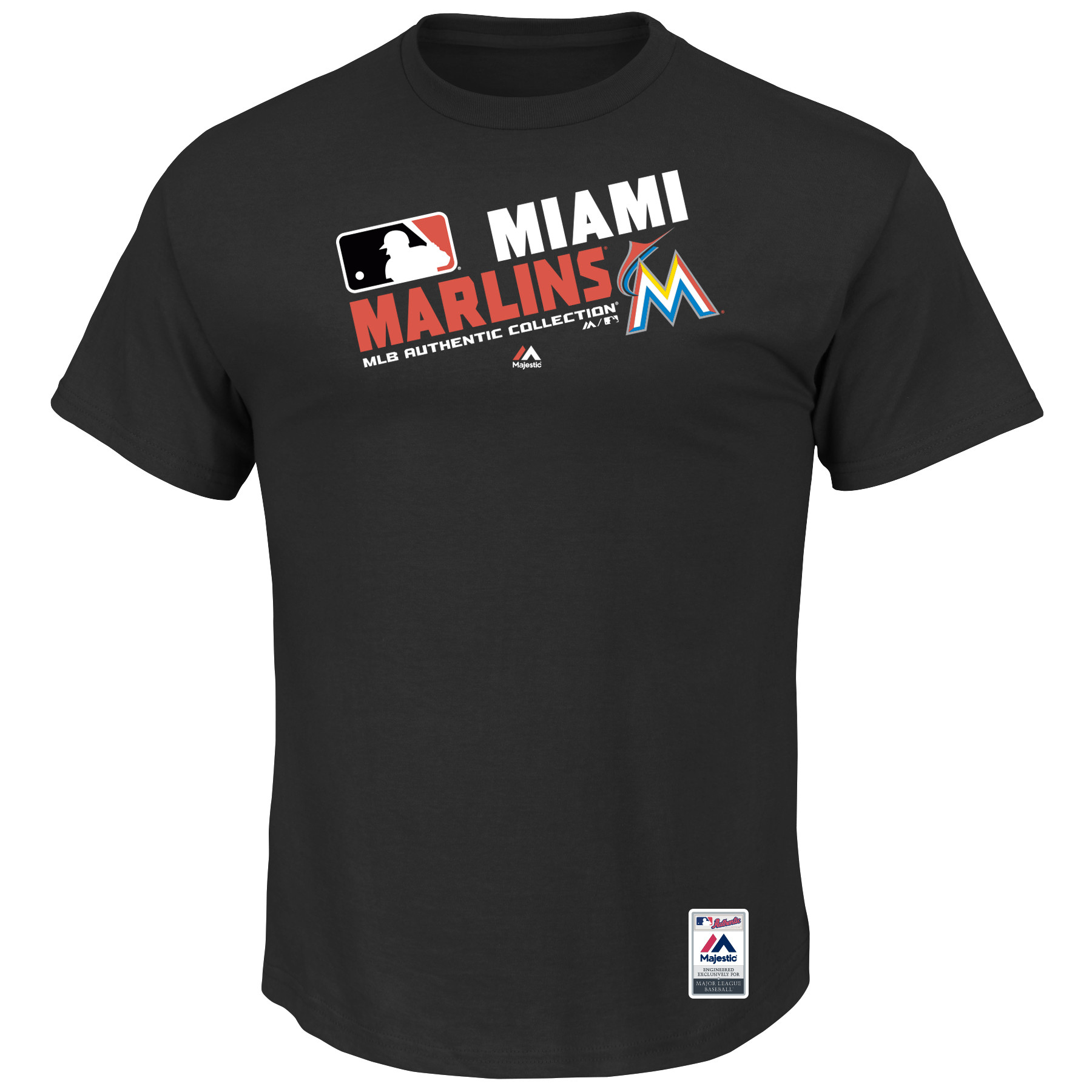 Men's Majestic Black Miami Marlins Big & Tall Authentic Collection Official Team Choice T-Shirt