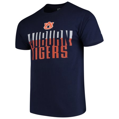 Men's Russell Navy Auburn Tigers Textured Trend Crew Neck -