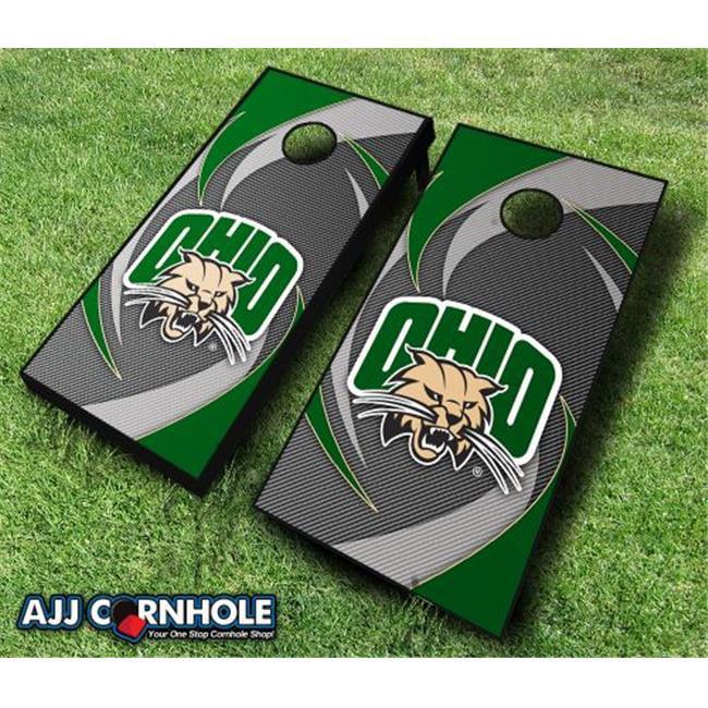 AJJCornhole 110-OhioSwoosh Ohio Bobcats Swoosh Theme Cornhole Set with Bags - 8 x 24 x 48 in. - image 1 of 1