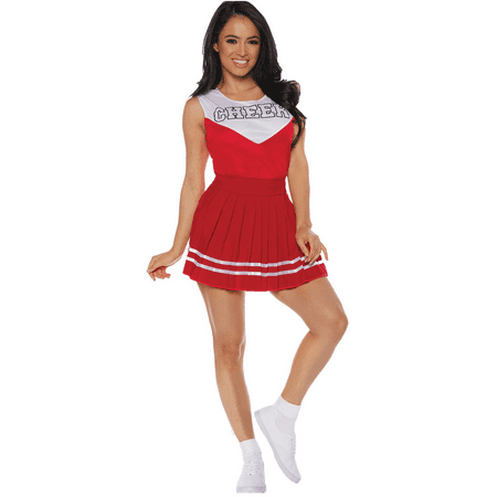 Women's Red Cheerleader Cheer Costume