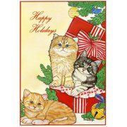 Pipsqueak Productions C495 Cat Holiday Boxed Cards