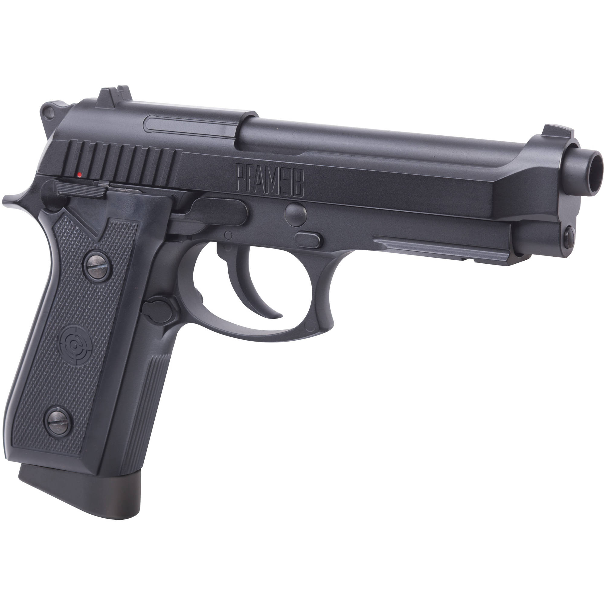 Click here to buy Crosman PFAM9B Full Metal Blowback .177 Caliber Full Semi-Auto CO2 Air Pistol by Crosman.